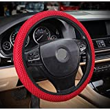 """ZaCoo Breathable Mesh Anti-Slip Car Steering Wheel Cover (No Fixed Inner) fits for Truck,SUV,Cars 14""""-15"""""""