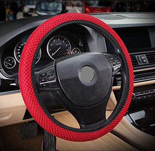 ZaCoo Breathable Mesh Anti-slip Car Steering Wheel Cover (No Fixed Inner) fits for Truck,Suv,Cars 14