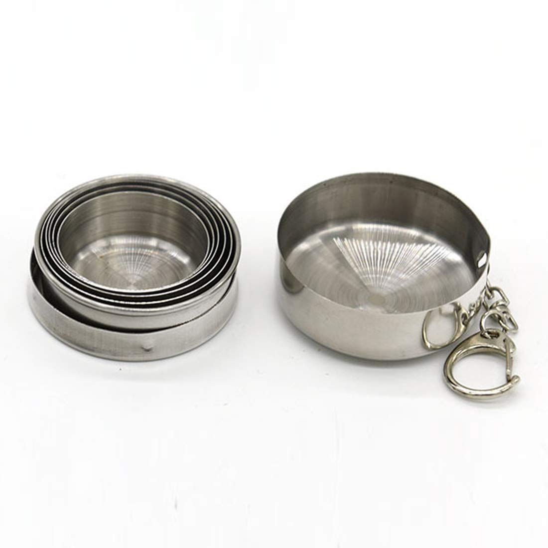 BecautyCYDZ 6 Oz Folding Collapsible Stainless Steel Cup Outdoor Travel Camping Portable New Hot