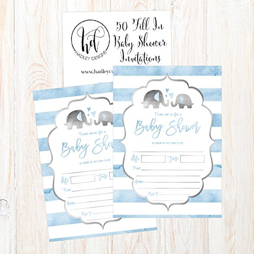 50-Fill-in-Baby-Shower-Invitations-Baby-Shower-Invitations-Elephant-Jungle-Baby-Shower-Invites-Boy-Baby-Boy-Shower-Invitations-Baby-Invitations-Neutral-Baby-Shower-Invitations