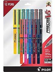 Pilot Precise V5 Stick Rolling Ball Pens, Extra Fine Point 0.5mm, 12 Colors (31888)