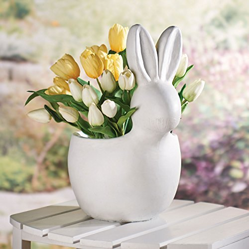 ART & ARTIFACT White Bunny Planter - Glass-reinforced Concre