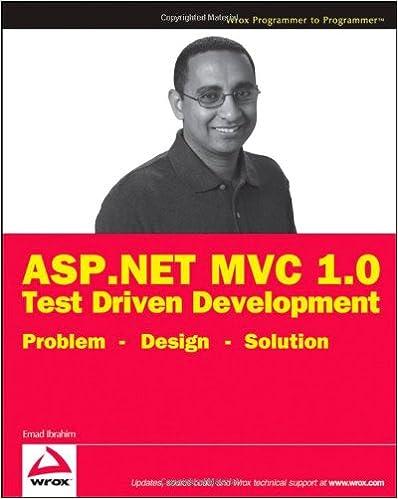 Solution Problem Design ASP.NET MVC 1.0 Test Driven Development