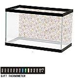 bybyhome Fish Tank Backdrop Ice Cream,Cute Candies,Aquarium Background,60' L X 24' H(152x61cm) Thermometer Sticker
