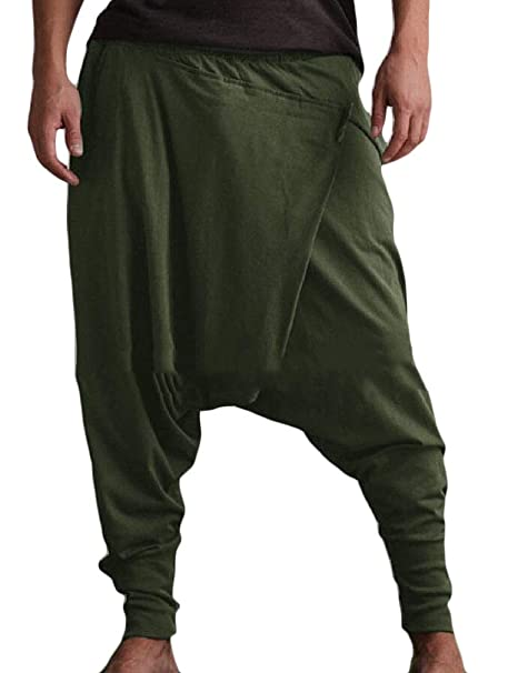ShuangRun - Pantalones de chándal para Hombre Verde Verde M ...