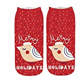 Women Winter Socks,Merry Christmas Funny 3D Printed Casual Leg Warmer Cute Low Cut Ankle Socks  (Free Size, I)