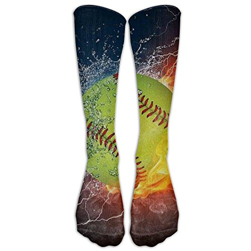 - FUNINDIY Fire Softball Socks Football Compression Socks High Socks Long Socks For Athletic,Travel