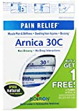 Boiron - Arnica 30c Pain Relief Pellets Buy 2 Get 1 Free Value Pack 3 x 80 Pellets
