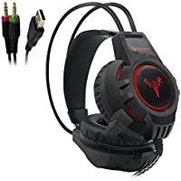 iBesi Gaming Headset 7 Over-ear Headphones with Microphone Inflected for Computer Games