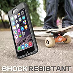 iPhone 6 Plus Case, SUPCASE Belt Clip Holster Apple iPhone 6 Plus Case 5.5 inch display  [Unicorn Beetle PRO] Cover w/ Screen Protector (Black/Black),Bumper