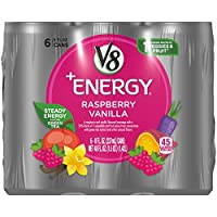 V8 +Energy, Raspberry Vanilla, 8 Ounce, 6 Count (Pack of 4) (Packaging May Vary)