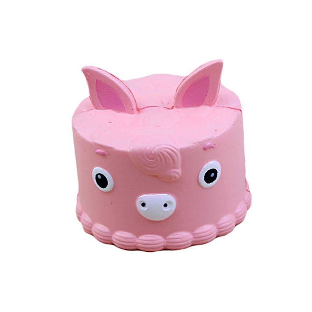 Mikilon Squishies Cake Rainbow Jumbo Slow Rising Kawaii Scented Horse Cake Squishies, 1Pcs (Pink)