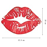 Large Red Mouth Patches Sew on Tongue Sequins