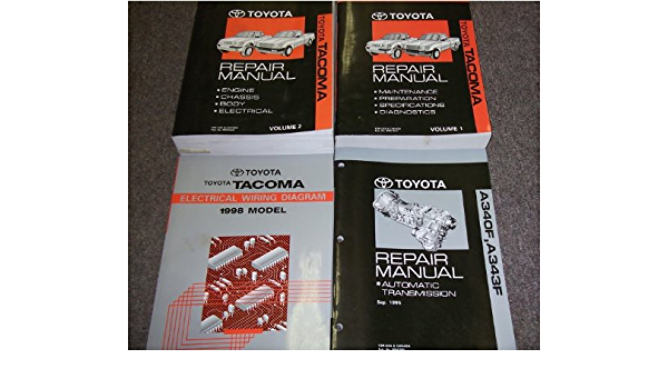 1998 Toyota Tacoma Service Shop Repair Manual Set Oem 2 Volume Set Wiring Diagrams Manual And The Automatic Transmission Manual Amazon Com Books