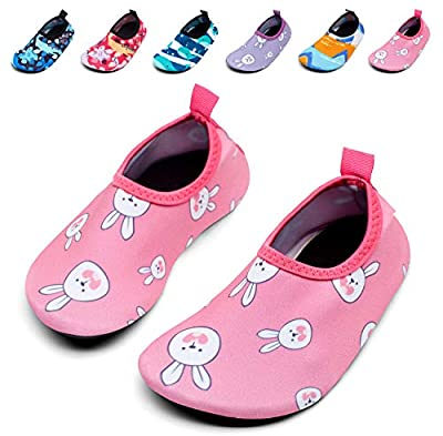 Giotto Kids Swim Water Shoes Quick Dry Non-Slip for Boys & Girls, G015E-Pink, 36-37