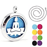 Kissreason Yoga Om Buddha Jewelry Design Aroma Aromatherapy Essential Oil Diffuser Necklace Stainless Steel Locket Pendant Gift Jewelry