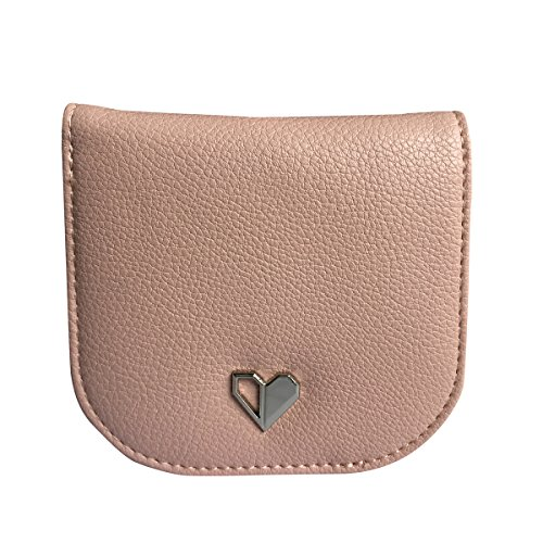 ct Wallet Purse Simple Card Holder Lightweight Snap Money Clip for Women (Pink) (Simple Card Holder)