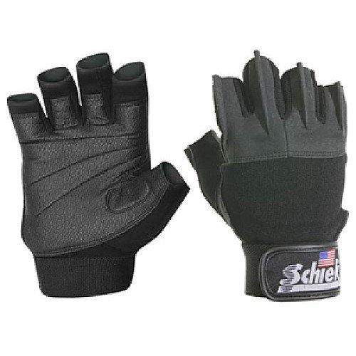 Schiek Model 520 Women's Weight Lifting Gloves with Velcro Wrist Closure - Black - XS