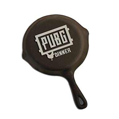 Stretoey Pubg Games Eat Chicken Perimeter Products Cosplay Mini Small Metal Pan Model Figure Arts Toys