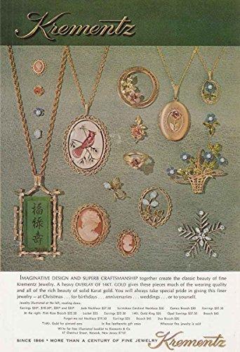 1973 Krementz Jewelry: Jade Necklace, Scrimshaw, Krementz Print - Art Krementz