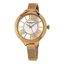 Stuhrling Original Women's 595.03 Winchester Quartz 16K Rose Tone Mesh Bracelet Watch
