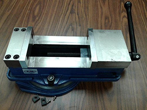 6'' ANG-DOWN-LOCK MILLING MACHINE VISE X-large opening 8.5'' swivel base 850-600L by CME
