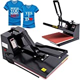 Ridgeyard 15'' x 15'' T-Shirt Heat Press Industrial-Quality Digital LCD Timer Clamshell Sublimation Heat Press Transfer Machine
