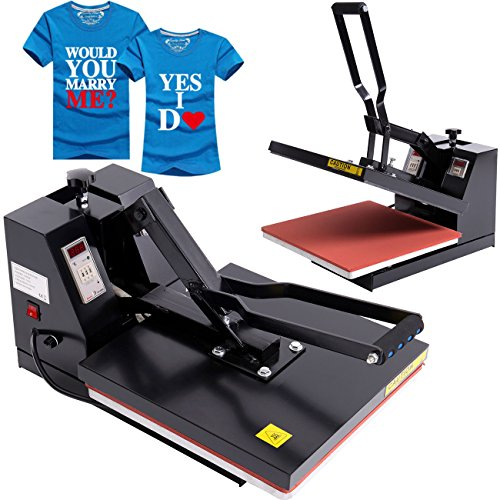 Ridgeyard 15'' x 15'' T-Shirt Heat Press Industrial-Quality Digital LCD Timer Clamshell Sublimation Heat Press Transfer Machine by Ridgeyard