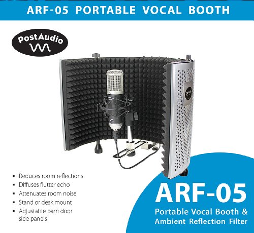Post Audio ARF-05 Reflection Filter & Vocal Booth, Desk or Stand Mounted. Studio Sound Anywhere, Anytime. by Post Audio