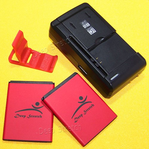 Extended Slim 2100mAh Li-ion Battery Multi Function Desktop Wall Home USB/AC Charger Folding Bracket for Virgin Mobile ZTE Awe N800 Smartphone (Phone Zte Mobile N800 Virgin)
