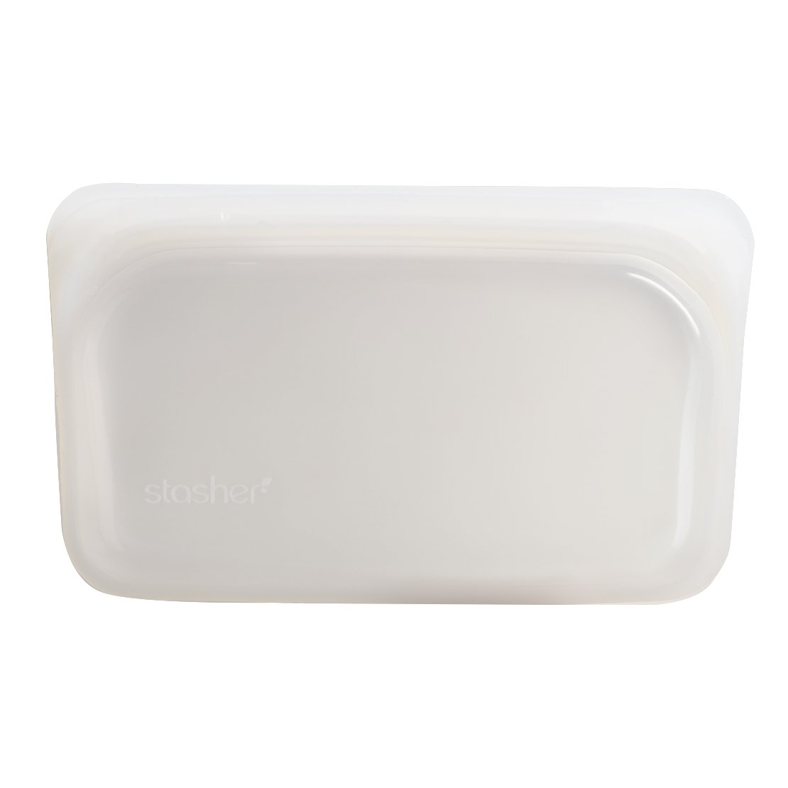 Stasher Reusable Silicone Food Bag, Snack Bag, Clear STMK00