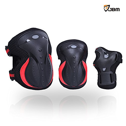 JBM Adult / Children Outdoor Activities Knee Pads and Elbow Pads with Wrist Guards Impact Resistant Protective