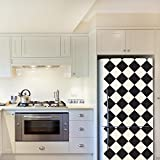 Wall Stickers''Diamonds Pattern'' 4 Packs Fridge Murals Removable Self-Adhesive Decals art living Room Kitchen Furniture Décor Restaurant Bar Cafe Hotel Home Decoration