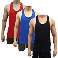 De los hombres de Tough Cookie muscular y Back Tank parte superior 3Pack Deal
