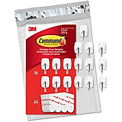 Command Small Wire Hooks, 16-Hooks, 24 Strips (GP067-16NA) - Easy to Open Packaging