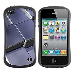Suave TPU GEL Carcasa Funda Silicona Blando Estuche Caso de protección (para) Apple Iphone 4 / 4S / CECELL Phone case / / Abstract Metal Cubes /