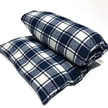 """Large flax heating pad, The """"Flax Sak"""" Microwaveable Hot/cold pack with removable/washable cover (Blue & White Plaid)"""