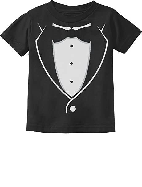 95a1427aa70 Printed Tuxedo with Bow-tie Suit Funny Gift for Boys Toddler Infant Kids T