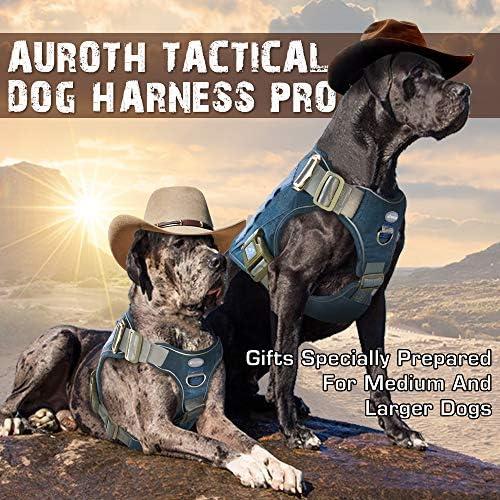 Auroth - Arnés táctico para perro, sin tirar, ajustable, arnés reflectante K9 de entrenamiento de trabajo para mascotas, servicio militar, arnés para perro, fácil control para perros pequeños, medianos y grandes 8