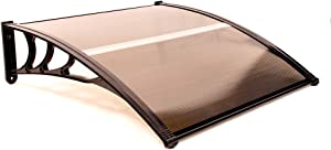 ALEKO DC40X40BR Polycarbonate Outdoor Window Door Garden Canopy UV Rain Snow Protection 40 x 40 Inches Brown