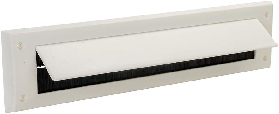 FIXMAN 916133 - Bocacartas con tapa para buzón interior (338 x 78 mm, blanco)