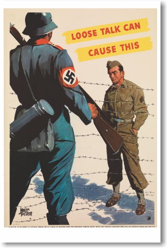 Loose Talk Can Cause This - NEW Vintage Reprint Poster