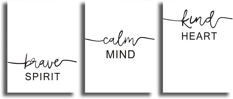 """CHDITB Unframed Abstract Words Motivational Quotes and Saying Art Prints,Set of 3 Art Posters(12"""" x 16"""" ) Canvas Inspire Success Phrases Inspirational Print for Office Classroom Wall Art Decor"""