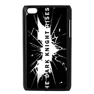 Durable Hard cover Customized TPU case The Dark Knight Rises Logo iPod Touch 4 Case Black