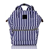 Casual Canvas Backpacks Unisex Daypacks by Termichy, Blue-Striped