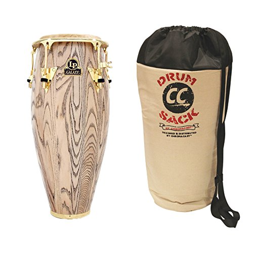 Latin Percussion LP Galaxy Giovanni Series 11'' Wood Quinto, Gold Hardware (LP805Z-AW) - Includes: ChromaCast Drum Sack by Latin Percussion