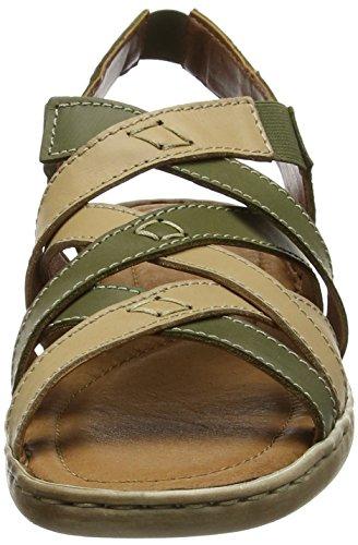Josef Seibel Women's Lisa 03 Ankle Strap Sandals Green (Olive-combi) Iv9OC8