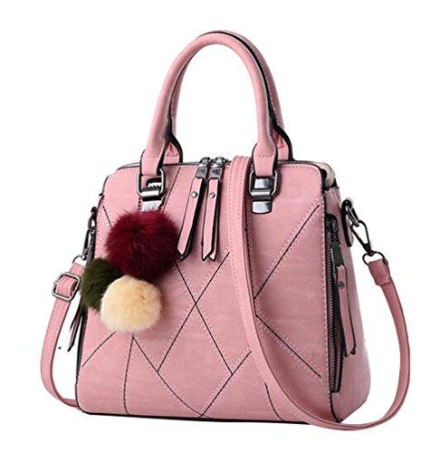 Main Main Femme Style Bandoulière à à Rétro Capacité à Messenger Grande Sac Sac Sac pink Baymate Cwtq0xFdt