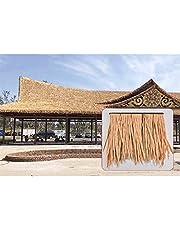 Artificial Thatch, Weather Resistance PE Simulation Thatch Tile Fire Prevention Antiseptic Simulated Thatch Palm Thatch Simulation Roll Roof Green Decoration (Color : 2pcs, Size : 50x50cm)