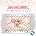 Cuddles-Cribs-Nursery-Bedding-Crib-in-a-Bag-100-Organic-Cotton-Crib-Sheets-100-Polyester-Reversible-Comforter-and-Shaped-Cushion-4-Piece-Butterfly-Garden